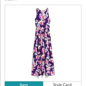 Loveappella Floral Maxi Dress, size medium